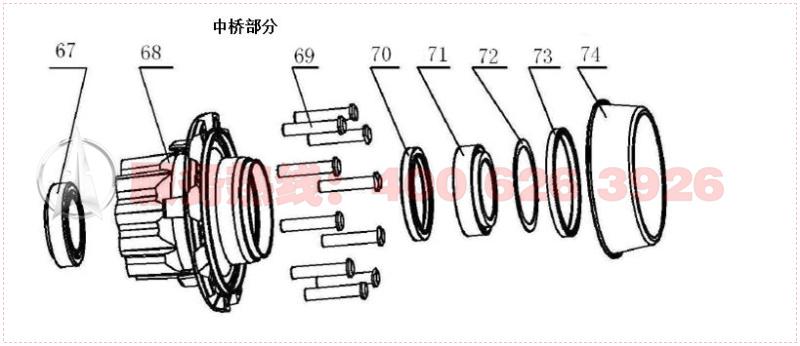 汽车轴头结构原理图